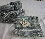 Materiál ručne robený - Polwarth, ručne farbený, 80g - 9923745_