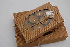 Svietidlá a sviečky - Čajové sviečky v krabičke - 9924415_