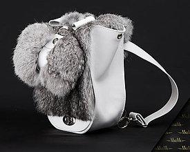 Detské tašky - Kožený ruksak MARIMA z pravej kože (Šedá) - 9922974_