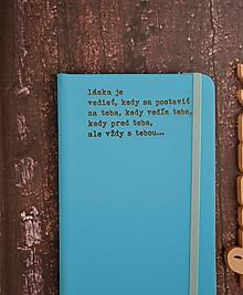 Papiernictvo - zápisník - Láska je... - 9922258_