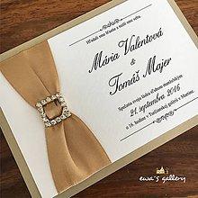 Papiernictvo - Svadobné oznámenie ~Gold cafe~ - 9924195_