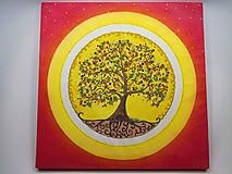 Obrazy - Strom života (piesková mandala) - 9922793_