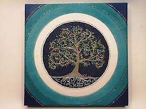 Obrazy - Strom života (piesková mandala) - 9922719_