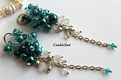 Náušnice - Náušnice Flowers Falls Turquoise - 9925382_