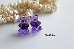 Náušnice - Napichovačky Gummy Bears - 9925528_