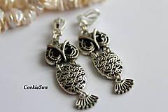 Náušnice - Klipsne Long Owls... - 9925568_