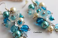 Náušnice - Náušnice Flowers Falls Blue - 9925577_