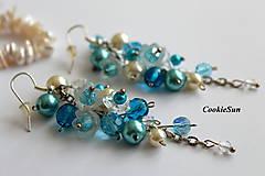 Náušnice - Náušnice Flowers Falls Blue - 9925578_