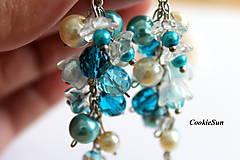Náušnice - Náušnice Flowers Falls Blue - 9925579_