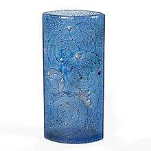 Dekorácie - Sklenená váza CELEBRA modrá 02 - 9925494_