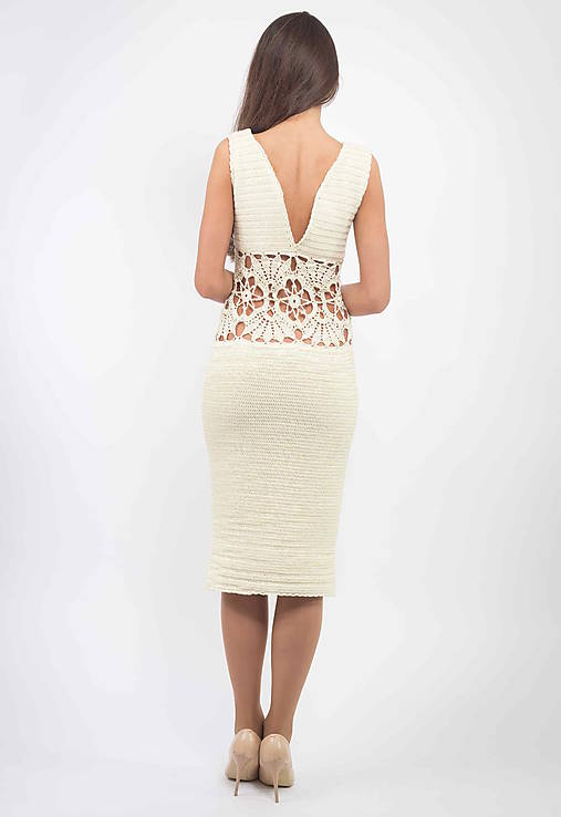 b554b817d79c Hačkované Šaty Rachel   lazoet - SAShE.sk - Handmade Šaty