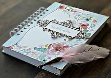 Papiernictvo - Svadobná kniha hostí - Púdrové objatie - 9923436_