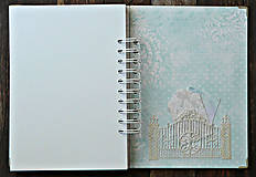 Papiernictvo - Svadobná kniha hostí - Púdrové objatie - 9923494_