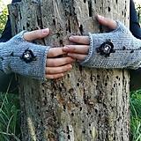 Rukavice - rukavičky sivé - 9925196_