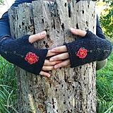 Rukavice - rukavičky čierne - 9925236_