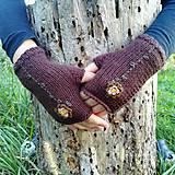 Rukavice - rukavičky hnedé - 9925426_