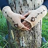 Rukavice - rukavičky béžové - 9925449_