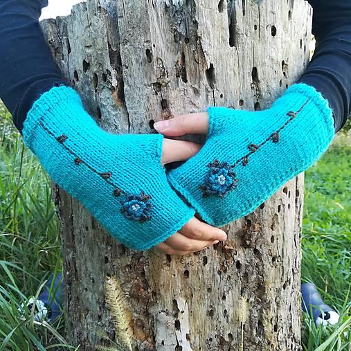 rukavičky tyrkysové