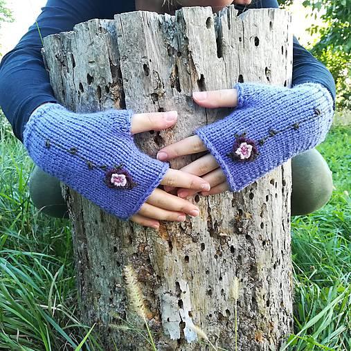 rukavičky fialové