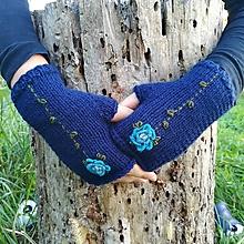 Rukavice - rukavičky tmavomodré - 9925214_