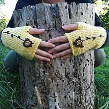 Rukavice - rukavičky žlté - 9925223_