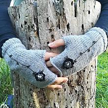 Rukavice - rukavičky sivé - 9925228_