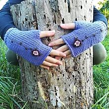 Rukavice - rukavičky fialové - 9925434_