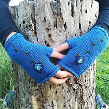 Rukavice - rukavičky modré - 9925462_