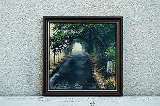 Obrazy - Maľba, Tajomná cesta - 9925467_