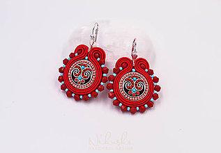 Náušnice - Ornament I. - červené - 9922466_
