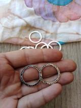 Komponenty - Kovové ozdobné krúžky - pár (Strieborná) - 9925144_