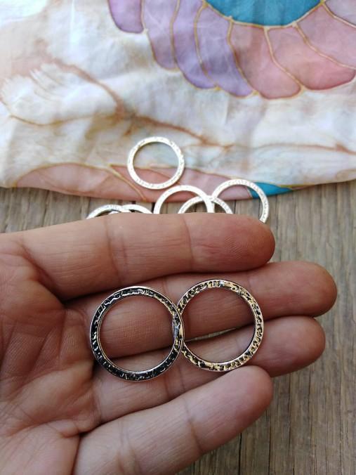 Kovové ozdobné krúžky - pár (Strieborná)
