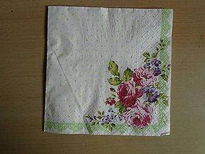 Papier - ružičky - 9922159_