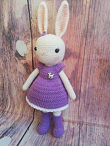 Hračky - Zajačik v fialove prevedenie - 9928275_
