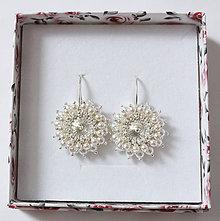 Náušnice - JOIA svadobné náušnice  Perličky  so Swarovski® kryštálmi   Ag  925 - 81d3a7dfed2