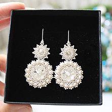 Náušnice - JOIA svadobné náušnice  Pearls  so Swarovski® kryštálmi   Ag 925  - 4637e01714b