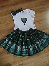 Folklórny set - sukňa, tričko, čelenka