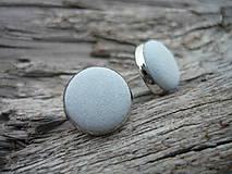 - VÝPRODEJ! Náušnice Buttonky Levandulové - 9929140_