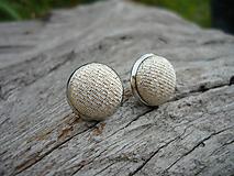 Náušnice - VÝPREDAJ! Náušnice Buttonky Zlaté - 9929245_