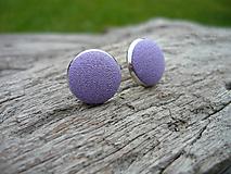 - VÝPREDAJ! Náušnice Buttonky Fialové - 9929250_