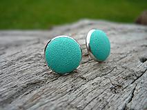 - VÝPREDAJ! Náušnice Buttonky Tyrkysové - 9929255_