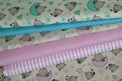 Textil - Látka Dobrú noc, mačiatko - 9927278_