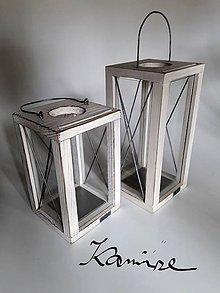 Svietidlá a sviečky - Lampáš Nordic style biely - 9927687_