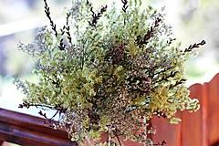 Dekorácie - Prírodná sušená kytica - 9927055_