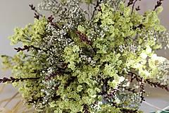 Dekorácie - Prírodná sušená kytica - 9927063_