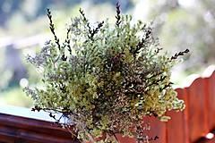 Dekorácie - Prírodná sušená kytica - 9927064_