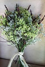 Dekorácie - Prírodná sušená kytica - 9927066_