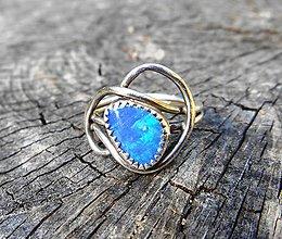 Prstene - Strieborný Prsteň s Austrálskym drahým Opálom - 9927379_