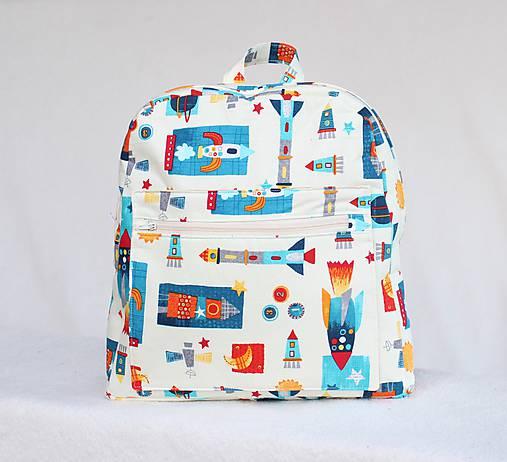 Detské tašky - Detský ruksak rakety  - 9928377_