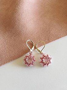 Náušnice - Swarovski náušnice Pink Dream (Priehľadná) - 9928342_